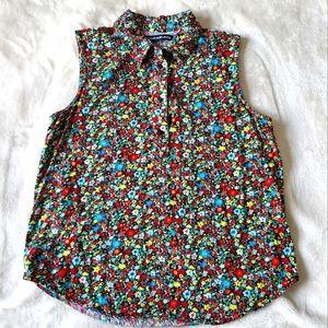 Calvin Klein Colourful Floral Sleeveless Blouse